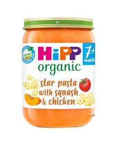 HiPP Organic Star pasta with Squash & Chicken Baby Food Jar 7+ Months (6 x190g)