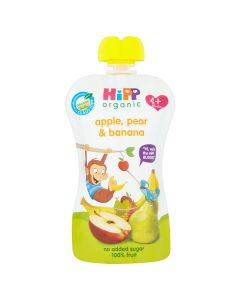 HiPP Organic Apple Pear and Banana Baby Food Pouch 4+ Months (6 x 100g)