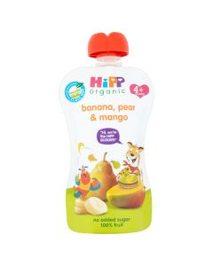 HiPP Organic Banana Pear and Mango Baby Food Pouch 4+ Months (6 x 100g)