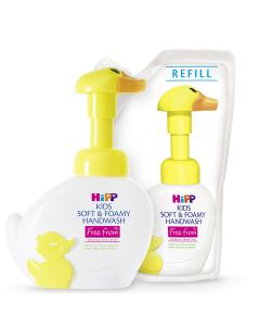 HiPP Kids soft & foamy handwash duck (250ml) with 2 Refills
