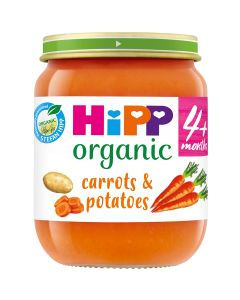 HiPP Organic Carrots and Potatoes Baby Food Jar 4+ Months (6 x 125g)