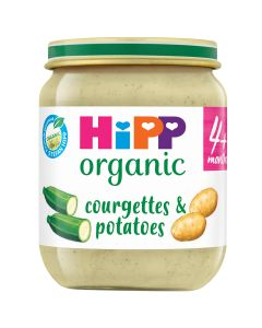HiPP Organic Courgettes & Potatoes  Baby Food Jar 4+ Months (6 x 125g)