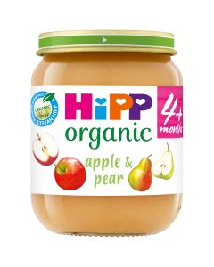 HiPP Organic Apple and Pear Baby Food Jar 4+ Months (6 x 125g)