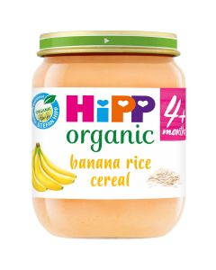 HiPP Organic Banana Rice Cereal Baby Food Jar 4+ Months 125g