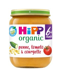 HiPP Organic Penne, Tomato & Courgette Baby Food Jar 6+ Months (6 x 125g)