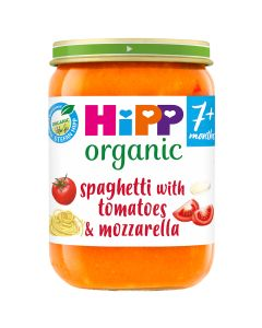 HiPP Organic Spaghetti with tomatoes & mozzarella Baby Food Jar 7+ Months (6 x 190g)