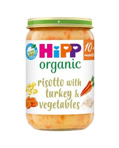 HiPP Organic Risotto With Turkey & Vegetables Baby Food Jar 10+ Months (6 x 220g)