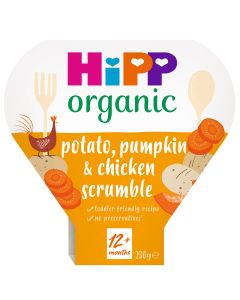 HiPP Organic Potato Pumpkin & Chicken Scrumble Toddler Tray Meal 1-3 Years (5 x 230g)