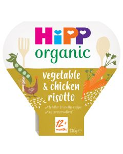 HiPP Organic Vegetable & Chicken Risotto Toddler Tray Meal 1-3 Years (5 x 230g)