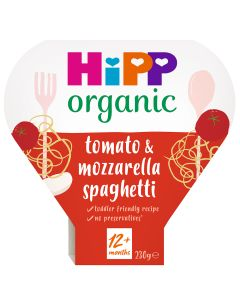 HiPP Organic Tomato And Mozzarella Spaghetti Toddler Tray Meal 1-3 Years (5 x 230g)
