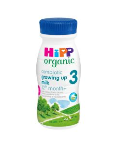 HiPP Organic 3 Growing up Baby Milk Ready to feed liquid from the 12th month onwards (8 x 200ml)